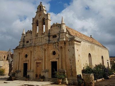 very important monastery on the island, the Arkadi monastery