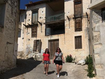 hiking through typical Cretan villages