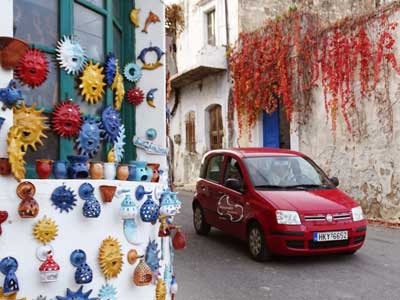 together with AJ-Mr. Routaki you can drive through the pottery village of Margarites