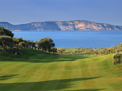 The bay course - hole 12 overlooking the island just in front of you
