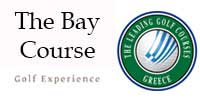logo of the bay course, costa navarino