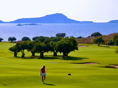 beautiful scenery on the bay course of costa navarino