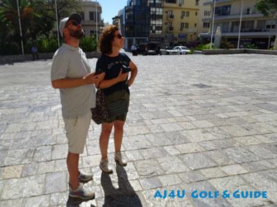 the city walk Heraklion at the square of Agios Minas