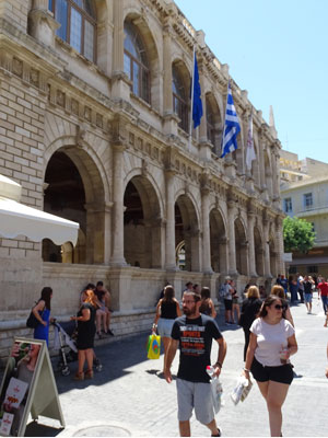 one of the most beautiful buildings during city walk Heraklion - Venetian Loggia